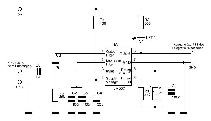 Telegrafie-Decoder mit AVR-MicroController